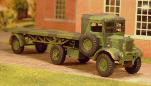 Albion AM463 tractor and 30cwt flat platform semi-trailer  - Matador Models